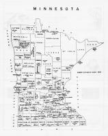 Minnesota State Map, Freeborn County 1965